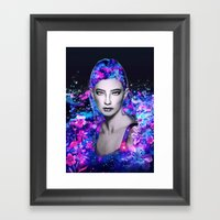 Galaxie Rose Framed Art Print