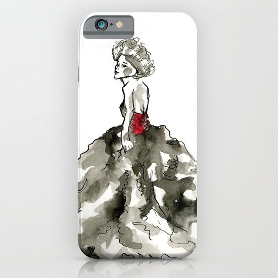 Lady in Red  iPhone & iPod Case