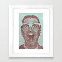 Patrick Bateman - The Hipster (Feat. Marta Macedo) Framed Art Print