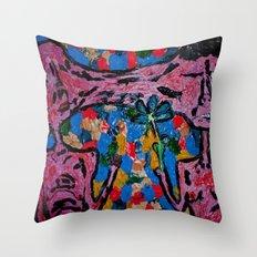 fist or flower Throw Pillow