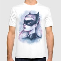 Catwoman Sketch  Mens Fitted Tee White SMALL