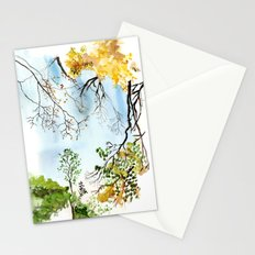 the only way out is up Stationery Cards