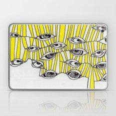 Yellow Stripey Eyes Laptop & iPad Skin