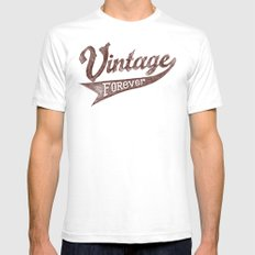 Vintage Forever Mens Fitted Tee White SMALL