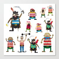 Pirates Made Of Paper Canvas Print