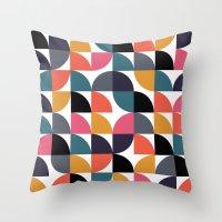 Quarter pattern Throw Pillow