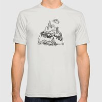 Lonely Mountain Mens Fitted Tee Silver SMALL