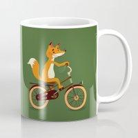 Little Fox On The Bike Mug