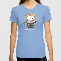 Hello Sweetie Womens Fitted Tee Tri-Blue SMALL