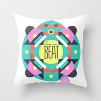 Feel the Beat Throw Pillow