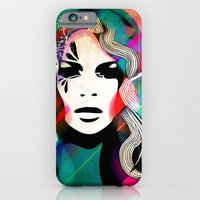 colorful hair iPhone 6 Slim Case