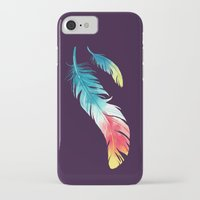 feather iPhone & iPod Cases featuring Feather by Freeminds