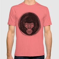 Gorilla  Mens Fitted Tee Pomegranate SMALL