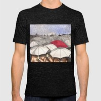 Standing Out in the Rain Mens Fitted Tee Tri-Black SMALL