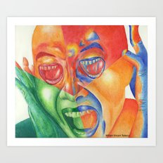 Scream with your eyes Art Print
