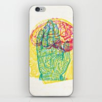 Hand and Brain iPhone & iPod Skin
