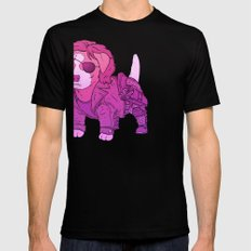 Kurt Russell Terrier - Snake Plissken Mens Fitted Tee Black SMALL