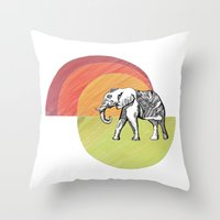 Elephant... Throw Pillow