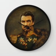 Wall Clock featuring Tom Selleck - Replacefac… by Replaceface