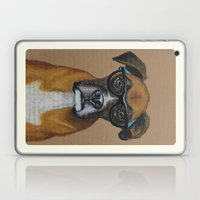 Hipster Boxer dog Laptop & iPad Skin