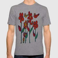 Hummingbird Divine Mens Fitted Tee Athletic Grey SMALL