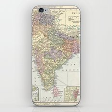 Vintage Map of India iPhone & iPod Skin
