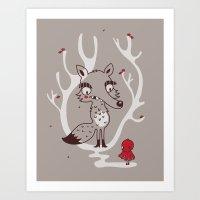 Hello Big Wolf Art Print