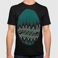 Fractal Tribal Art In Pa… Mens Fitted Tee Tri-Black LARGE