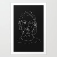 Minimal Drawing  Art Print