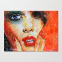 Title: Pastel Portrait -… Canvas Print