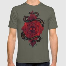 Death Crystal Mens Fitted Tee Lieutenant SMALL