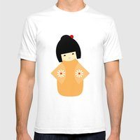 #27 Japanese Doll Mens Fitted Tee White SMALL