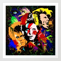 Bowie PopArt Metamorphos… Art Print