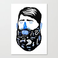 Animal Beard Canvas Print