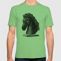 horse no.4 Mens Fitted Tee Grass SMALL