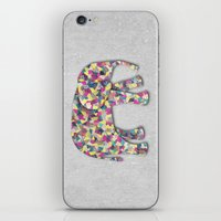 Elephant Collage in Gray Hot Pink Teal and Yellow iPhone & iPod Skin