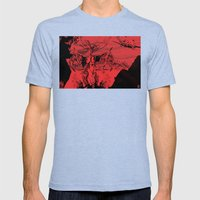 A Vampire Mens Fitted Tee Tri-Blue SMALL