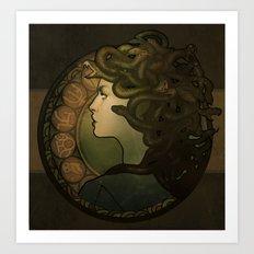 Medusa Nouveau Art Print