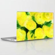 Yellow Flowers II Laptop & iPad Skin