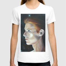 The Man Who Fell Womens Fitted Tee White SMALL