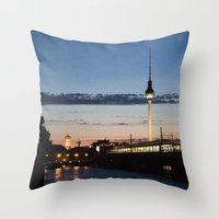 Berlin At Night Throw Pillow