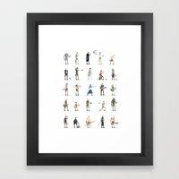 Videogame Pixel Art Framed Art Print