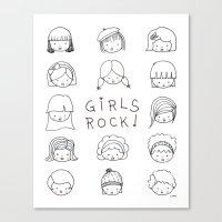 Girls Rock! Canvas Print