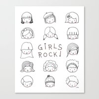 Girls Rock! Canvas Print