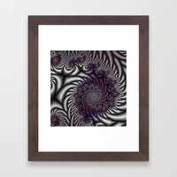 Purple And Gray Framed Art Print