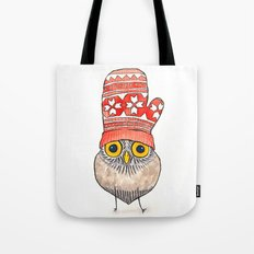 mitten owl Tote Bag