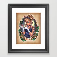 KEEP ON BELIEVING Framed Art Print