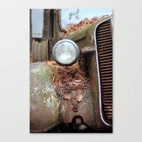 Vintage headlight Canvas Print