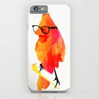 iPhone Cases featuring Punk bird by Robert Farkas