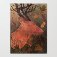 Monarch Of Autumn Canvas Print